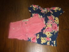ABERCROMBIE GIRLS 10 PINK SHORTS SZ S SMALL FLORAL TOP SET