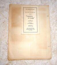 ARROYO GRANDE UNION HIGH SCHOOL CALIFORNIA  DRAMATIC CLASS PRESENTS PROGRAM 1937