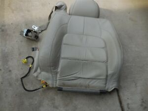 2000-2004 Cadillac Deville FRONT RIGHT PASSENGER SEAT UPPER LEATHER BACK TOP