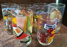 6 Pcs. Mixed Lot Vintage Collector's Series Drinking Glasses Burger King-Sears.
