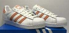Adidas Womens Size 8.5 Original Superstar White Chalk Coral Athletic Shoes