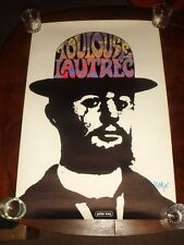 "Ultra Rare SIGNED PETER MAX ""TOULOUSE LAUTREC"" 1971 POSTER - NEAR MINT - 24x36"