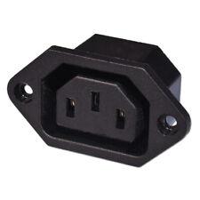 Fused IEC Mâle Panneau Châssis Mount Socket 250 V 10 A Bouilloire plomb Rewireable