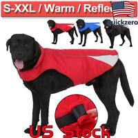 Dog Winter Cotton Coat Waterproof Pet Clothes Dogs Rain Snow Jacket Pitbull US