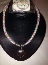 Collana e Orecchini con Pendente a Cuore - Fashion Jewelry - Nuova