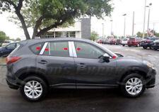 2013-2017 Mazda CX-5 10Pc w/Mirror Chrome Pillar Post Stainless Steel Trim