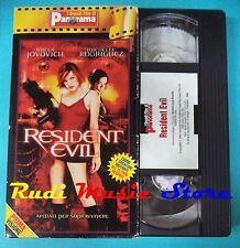 VHS film RESIDENT EVIL 2002 Jovovich Rodriguez HORROR PANORAMA (F67)no dvd
