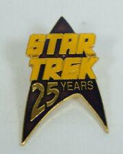 Star Trek 25 Years Souvenir Pin 1991