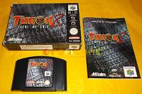 TUROK 2 SEEDS OF EVIL Nintendo 64 N64 PAL Versione Italiana ○○○○○ COMPLETO