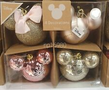 Disney Mickey Minnie Mouse 4 Pack Baubles Christmas Tree Decorations Primark NEW
