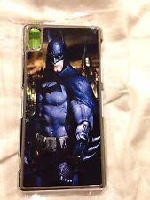 Batman Hard Phone Cover Case Fits Sony Experia Z2 Silver trim