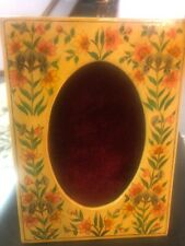 Hand Painted Paper Mache & Wood Lacquered Picture Frame 7x5� Made in Kashmir