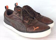 PUMA Size 11 Mens Golf Shoes Brown Leather EUC