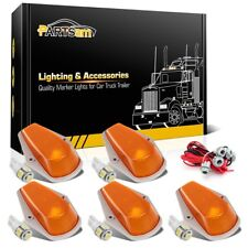 For Ford F-150/250/350 Amber Cab Marker Lights+T10 5050 White LED W/Harness 5pcs