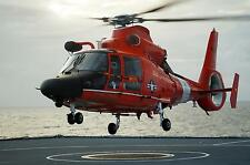 Royal Navy RFA Wave Knight Caribbean US Coastguard Dolphin Helicopter 12x8 Photo