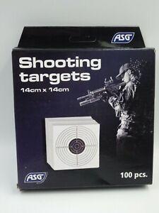 Airsoft paquet de 100 cibles carton SWISS ARMS 14x14cm neuf en stock