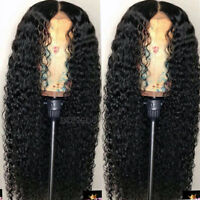 360 Lace Frontal Wig Pre Plucked Curly Wavy Malaysian Virgin Human Hair Full Wig
