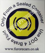 IVA Brake Fluid ID Sticker Label Kitcar Locost