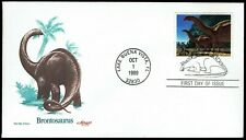 Us 2425 Brontosaurus 1989 Artmaster First Day Cover F2425-1