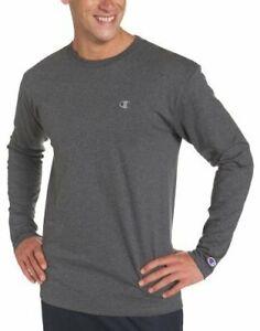 Champion Men's Big and Tall Long Sleeve Vapor Tee T-Shirt Performance Fabric