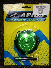 Kawasaki Kxf 250 2004-2005 Apico Aluminium Kraftstoff Tankdeckel & Ventil Rohr