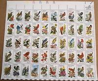 1982 sheet, State Birds & Flowers Sc#1953A-2002A
