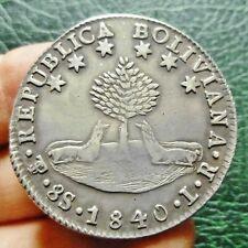 Bolivie - 8 Soles - 1840  PTS. LR.  Potosi