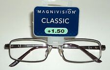 MAGNAVISION Classic Reading Glasses +1.50 New/Carded AXTON BRN #56