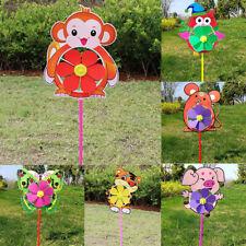 Lovely Cartoon Handmade Windmill Wind Spinner Kids Toys Yard Garden Decor SC