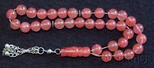 Prayer Beads Tesbih Komboloi Pink Quartz & Sterling 10 mm Beads Perfect Complete