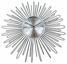 Wall Clock Metal Looping Wire Design Vintage Style Clock Home Decor Large 48cm
