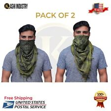 Shemagh Military Army Tactical Olive And Black  Keffiyeh Pack 2 Hunting Scarf