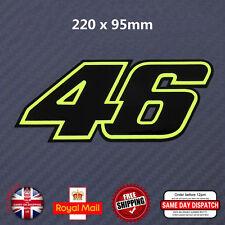 FLUORESCENT Green Valentino Rossi 46 Sticker Decals Black Vinyl 280mm*110mm N067