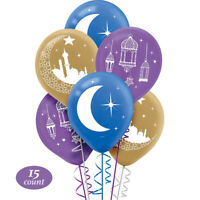 15 Crescent Mosque Latex Balloon ~ EID MUBARAK RAMADAN Party Supplies Decoration