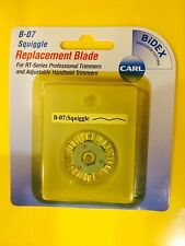 CARL B-07 SQUIGGLE Rotary Replacement Blade B07 Carl Trimmers ~ FREE SHIPPING!!!