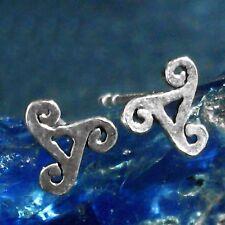 TRISKEL Ohrstecker Earbuds Silber Celtic Kelten Larp Wicca Gothic