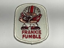 Frankie Fumble Football CSSEI 1972 Patch Character Vintage Sports Red Maroon A