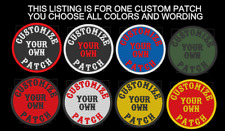 "CUSTOM EMBROIDERED 3"" ROUND PATCH SAYING MOTORCYCLE BIKER VEST PATCH MADE IN USA"