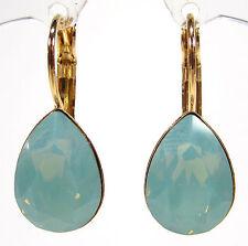 SoHo® Ohrhänger Ohrringe geschliffene Kristalle tropfen gold pacific opal türkis