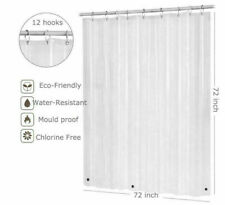 Water Repellant Bathroom Shower Curtain 72