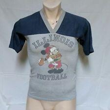 VTG 80s Walt Disney Mickey Mouse Illinois T Shirt Jersey 50/50 Cartoon Medium