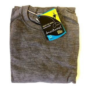 NEW - X-Large - Smartwool Men's Mid 250 Base Layer Crew Top Merino Wool - Taupe