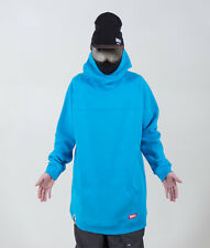 New Men's Oversized ski Hoodie snowboard Sweat Jacket Sweatshirt Long Tall blue