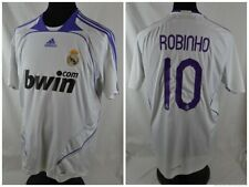 REAL MADRID M ROBINHO Shirt Adidas Home White Top Jersey 2007-08 2008 Camiseta
