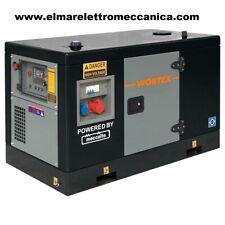 Wortex WS 12000-E SE3 Generatore Diesel 12 KVA 230V Trifase Insonorizzato 9kw