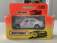 Matchbox BMW 5 Series E34 TEAM Car MB31 1991 - Mint in Box