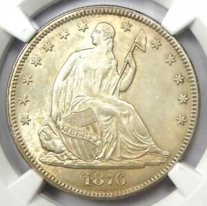 1876 Seated Liberty Half Dollar 50C - NGC Uncirculated Details (MS UNC) - Rare!