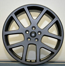 "4) 20"" AWD Viper Satin Flat Black Charger Magnum 300C Wheels Rims Set Dodge"