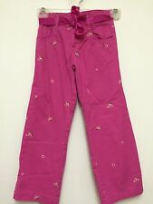 Girls Pink Denim Jeans by HEALTH TEX Size 6  Boot Cut With Pink Satin Belt
