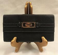Authentic Bvlgari (Bulgari) Brown Leather Long Wallet